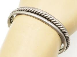 ROY BUCK NAVAJO 925 Silver - Vintage Twist Detail Petite Cuff Bracelet -... - $87.80