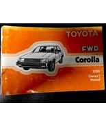 1985  Toyota Corolla Owners Manual - £12.78 GBP