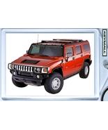 KEYTAG RED HUMMER H2 4X4 KEYCHAIN LLAVERO NEW P... - $9.95