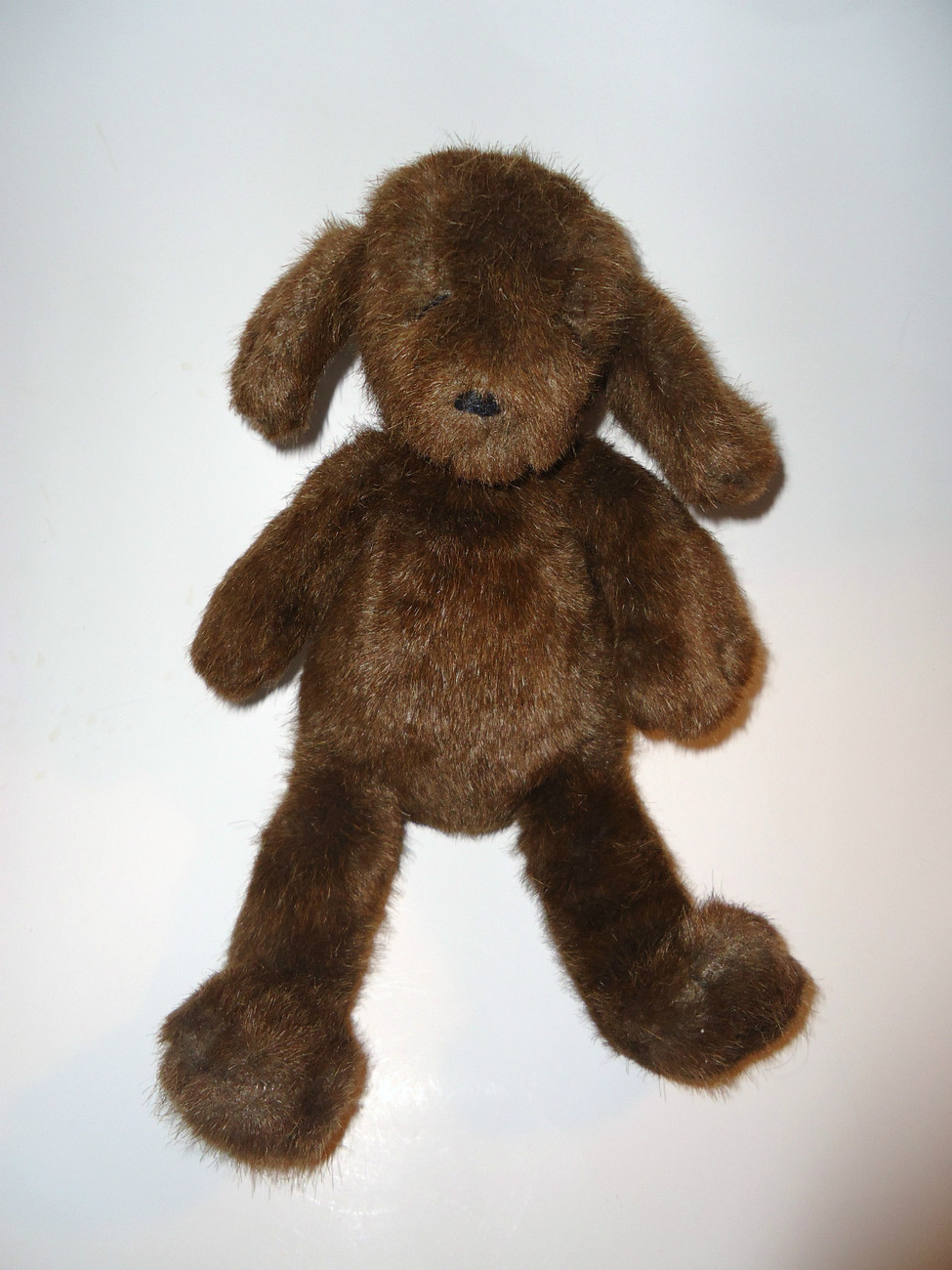 Primary image for Manhattan Toy Dark Brown Puppy Dog Plush Stuffed Animal Toy VTG
