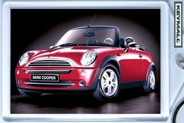 KEYTAG RED NEW MINI COOPER KEY CHAIN PORTE CLE CONVERTIBLE PORTACHIAVI L... - $9.95