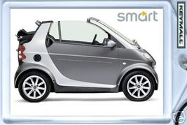 KEYTAG SILVER/GRAY SMART CITY/FORTWO CABRIO LLA... - $9.95
