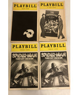 Playbill Lot Of4(spide_man.the Products. Majestic Theatre1985) - $18.70