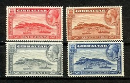 1931-33 Rock of Gibraltar Set of 4 Postage Stamps Catalog Number 96-99 LH
