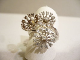 WHITE GOLD RING 18KT FIREWORKS D' ARTIFICE - $537.77