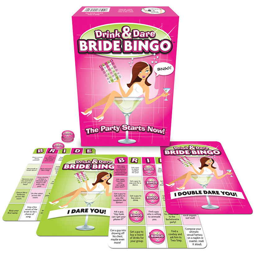 Drinks & Dare Bride Bingo Game