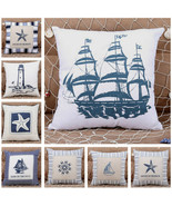 40cm Mediterranean Style Square Sofa Cushion Cover Throw Pillow Case Hom... - $4.99