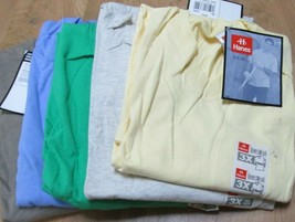 Men's T-Shirt V Neck 3XL Hanes Heavy Weight 5 Pc 5 Color 100% cotton 50/50  - $24.50
