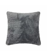 2 x Zig Zag chevron gris argenté polaire super douce 43.2cm - 43cm HOUSSE - $10.53