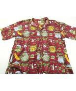 Ke Nui Hawaiian Shirt Fishing Wine Vineyards Large 100% Cotton Made in U... - $33.66