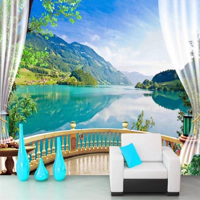 """3D Wallpaper """"Lake""""  - $35.00 - $350.00"""