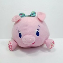 Pink Pig Bright Starts Round Ball Vibrating Shaking Baby Plush Stuffed P... - $14.84