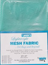 """Annie Mesh Fabric Lightweight 18""""x 54"""" Turquoise, 18"""" by 54"""" image 2"""