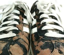 Custom Adidas Gazelles Men's 10.5 Bleached Tie Dye Black One of a Kind Splatter - $72.70