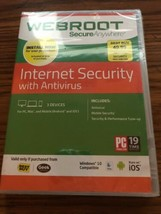 Webroot SecureAnywhere Internet Security with Anti-Virus 3 Devices PC Ma... - $15.88