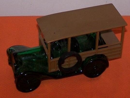 Avon Green Glass BIG MACK Truck Vintage Decanter Bottle