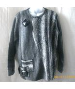 Moffi gray medium long-sleeved sweater  - $7.50