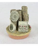 """TCR Fishing Hat Fish Lure Candle Topper Lid Jar Coin Bank 4"""" - $16.82"""