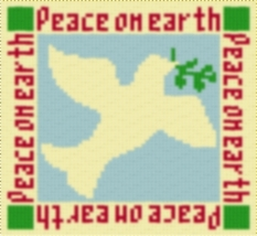 Latch Hook Rug Pattern Chart: DOVE of PEACE PT - EMAIL2u - $5.50