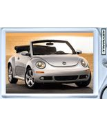 Porte Cle VW New Beetle Convertible Gris argent silver Key chain LLavero... - $9.95