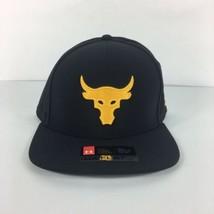 The ROCK Under Armour UA X Project Rock Supervent Snapback Hat Cap Black - $39.59