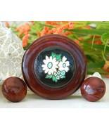 Vintage Redwood Burl Wood Brooch Pin Earrings Set Flower Switzerland - $24.95