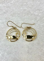 Vintage Wild Bryde Gold Plated Swan Cut Out Dangle Earrings - $14.01