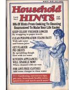 Household Hints Fall 1988  Collectible Vintage Household Hints Original... - $5.99