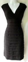 Black Knit Dress Knee Length Women Party Size 4 s AMERICAN LIVING Curvy ... - $27.72