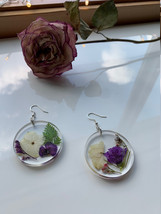 Wildflower Full Moon Earrings - $40.00