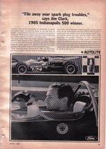 1966 Ford   NASCAR   -  Rare 1966 AUTOLTE Print Ad With Indy Driver Jim ... - $3.50