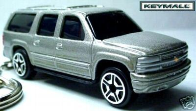Primary image for RARE KEY CHAIN 2000~2005~2006 SILVER CHEVY SUBURBAN NEW PORTE CLE GRIS GM TRUCK