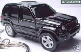 RARE KEY CHAIN 2002~2003~2004~2005~2006~007 BLACK JEEP LIBERTY PORTE CLE... - $38.99