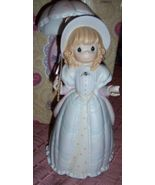 Precious Moments Victorian Girl Figurine Hope is Revealed Through Gods W... - $35.00