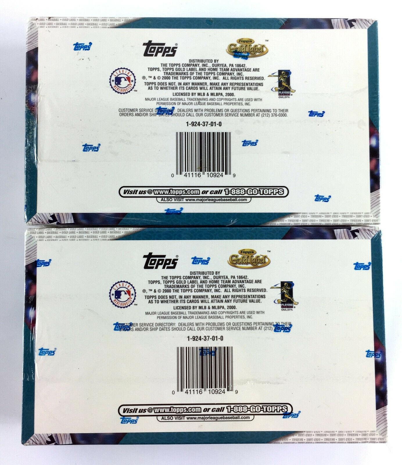 (2) 2000 Topps Gold Label Baseball Box - 24 Packs - 5 Super Premium Cards Per image 2