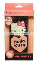 HELLO KITTY Sleek Profile FITS iPOD TOUCH 5 Durable Shell Case POLKA+HEA... - $9.88