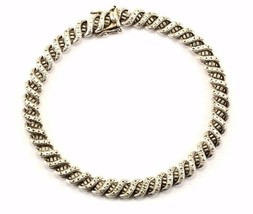 Vintage S Design Links Bracelet Sterling BR 969 - $47.31