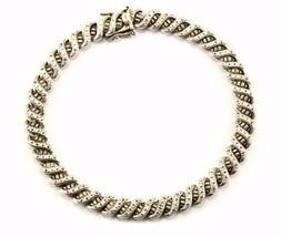 Vintage S Design Links Bracelet Sterling BR 969 - $47.31