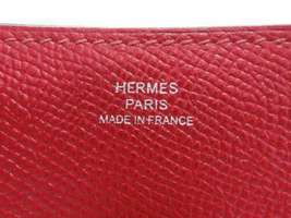 HERMES Baton de Craie 24 Veau Epsom Rouge Casaque Shoulder Bag 2017 #A Authentic image 11