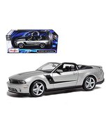 2010 Ford Mustang Convertible 427R Roush Edition Silver 1/18 Model Car b... - $57.98