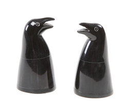 NWT Penguin Salt & Pepper Shakers ~ Natural Hor... - $9.99