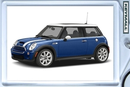 Rare Key Chain Blue White Mini Cooper S Keytag New Porte Cle БРЕЛОК Portac - $9.95