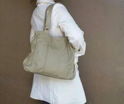Leather Tote Bag w/ Pockets, Retro Purse, Classic Tote, Shoulder Handbag, Katty - $113.49