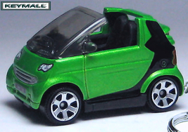 RARE ! KEY CHAIN GREEN BLACK SMART FORTWO PASSION COUPE PORTE CLE LLAVER... - $34.95