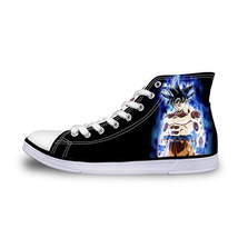 Dragon Ball Super Son Goku Kid's High Top Vulcanized Canvas Shoes Sneakers - $49.99