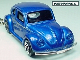 RARE ! KEY CHAIN RING BLUE VW BUG VOLKSWAGEN BEETLE NEW PORTE CLE LLAVER... - $19.94