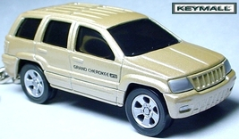 RARE KEY CHAIN RING GOLD/TAN JEEP GRAND CHEROKEE LIMITED 4X4 NEW PORTE C... - $34.98