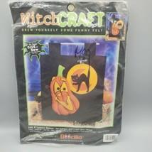 Bucilla Felt Applique Craft Kit Jack o Lantern Banner Halloween Boocilla 2000  - $14.84