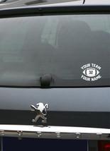 Football Custom Personalized Car Decal Team Sport - $6.86