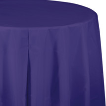 82 inch Plastic OctyRound Tablecover Purple/Case of 12 - $52.12